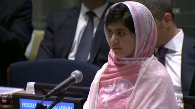 Malala mit einer kämpferischen Rede vor der UNO (unkomm.)