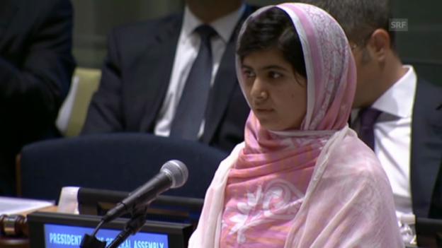 Video «Malala mit einer kämpferischen Rede vor der UNO (unkomm.)» abspielen
