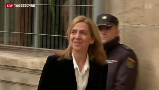 Video «Infantin Cristina vor Gericht» abspielen