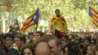 Video «Katalonien stimmt über die Unabhängigkeit ab» abspielen