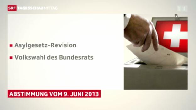 Video «Abstimmungsthemen für den 9. Juni bestimmt» abspielen