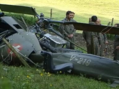 «Tagesschau» 25.5.2001: Absturz eines Alouette-Helikopters im Jura