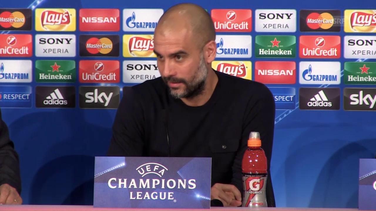 Bayern-Trainer Pep Guardiola vor dem CL-Viertelfinal-Hinspiel gegen Benfica Lissabon