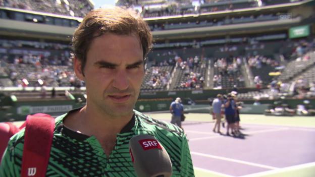 Video «Federer: «Es dürfte ein gutes Match geben»» abspielen