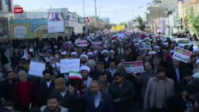 Video «Proteste und Gegenproteste im Iran» abspielen