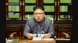 Video «Nordkorea droht mit Wasserstoffbombe» abspielen