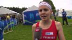 Video «OL: WM-Sprint Frauen, Statement Lüscher» abspielen