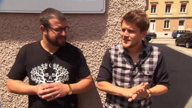 Video «Knackeboul und Baze warten auf Span» abspielen