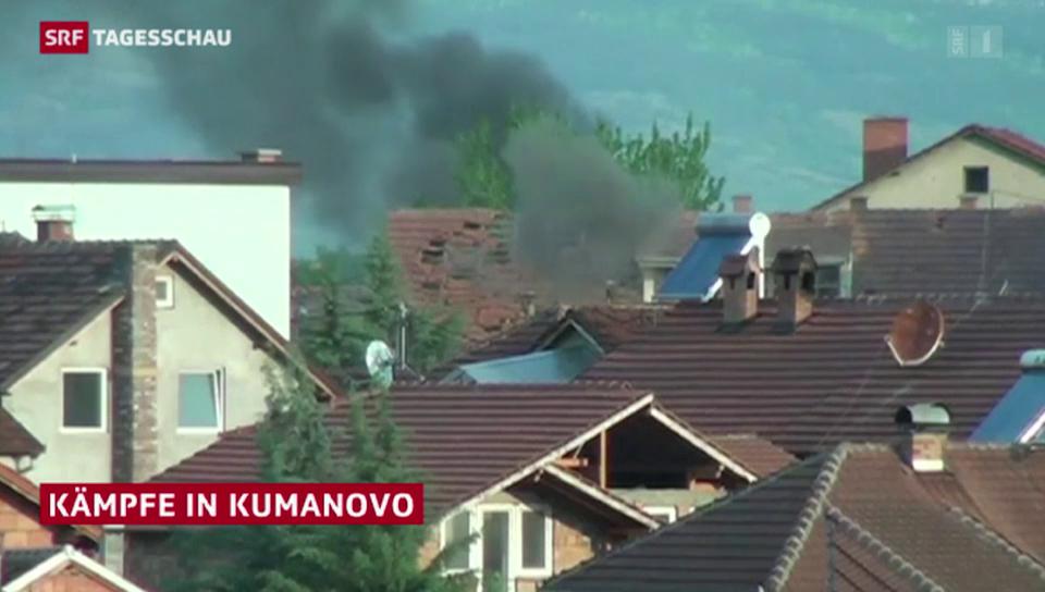 Gefechte in der Stadt Kumanovo