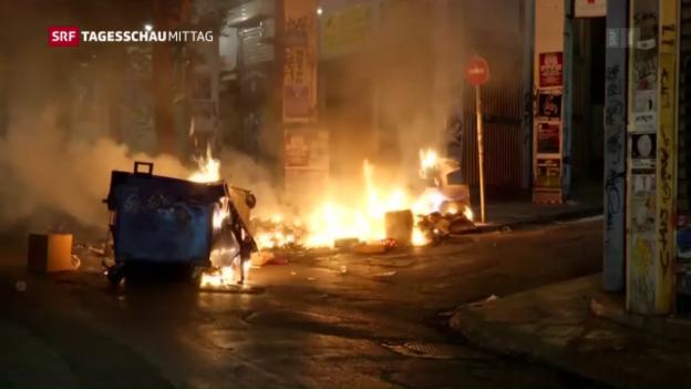 Video «Umstrittenes Sparpaket in Griechenland» abspielen