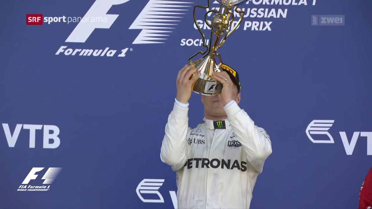 Bottas mit Premiere auf dem Siegertreppchen