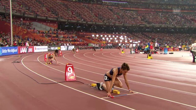 Video «Leichtathletik: WM 2015 in Peking, 4x 400m Staffel der Frauen» abspielen