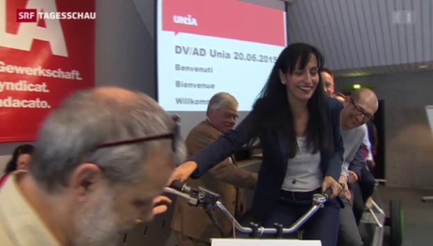 Video «Vania Alleva übernimmt bei der Unia» abspielen