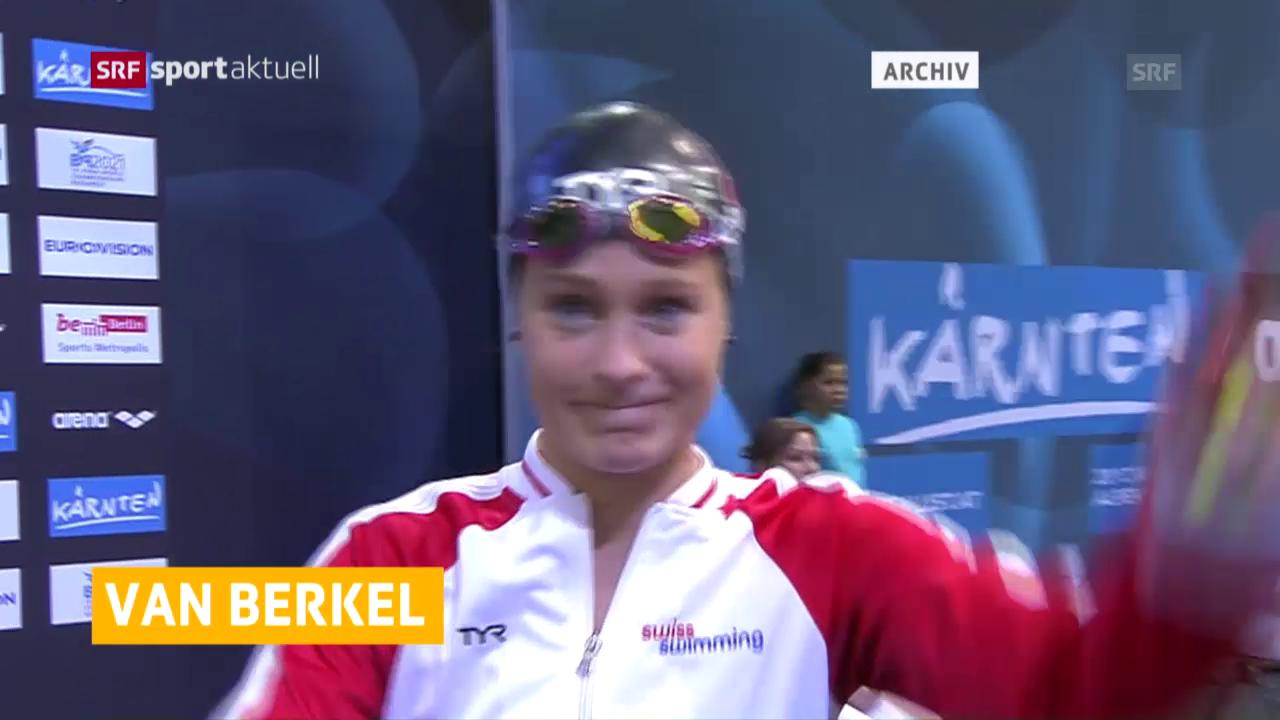 Martina van Berkel schwimmt an der EM in London in den Final