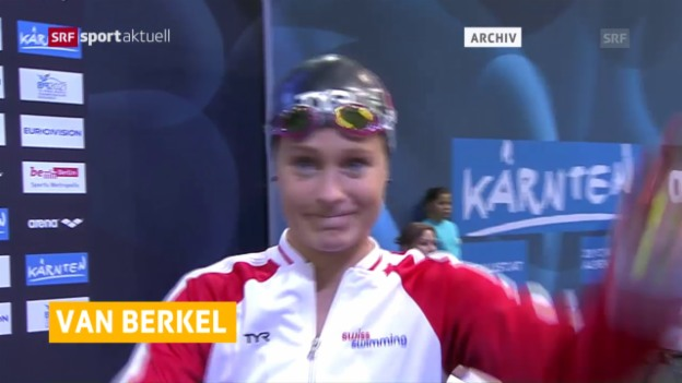 Video «Martina van Berkel schwimmt an der EM in London in den Final» abspielen