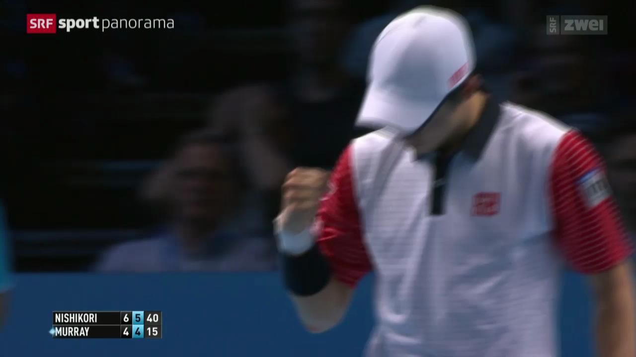 Tennis: ATP World Tour Finals, Murray - Nishikori