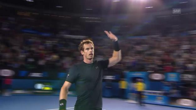 Video «Tennis: Australian Open, Viertelfinal Männer, Murray - Kyrgios» abspielen