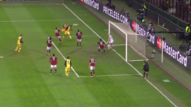 Video «Fussball: Champions League, Achtelfinal-Hinspiel, Milan - Atletico» abspielen
