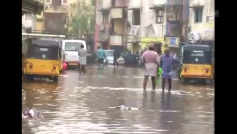 Überschwemmungen im südindischen Chennai