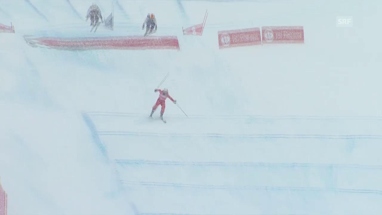 Skicross: Val Thorens 2014, Verletzung Sanna Lüdi