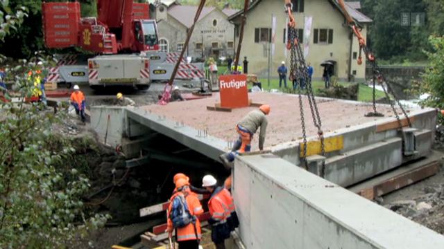 Leichtbau für Schwerverkehr: Brücke aus Balsaholz