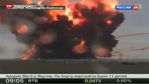 Video «Russische Rakete in Kasachstan abgestürzt» abspielen
