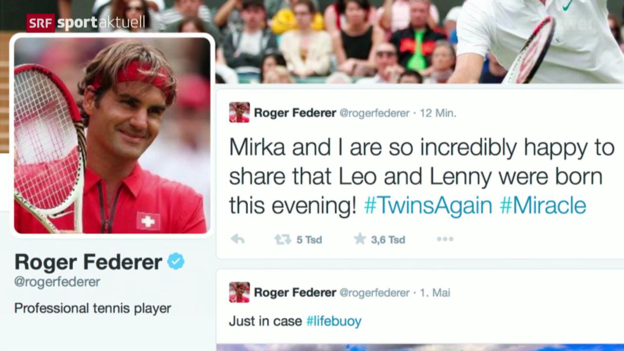 Tennis: Federer wieder Vater von Zwillingen