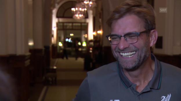 Video «Fussball: Interview mit Jürgen Klopp vor dem EL-Spiel Sion-Liverpool» abspielen