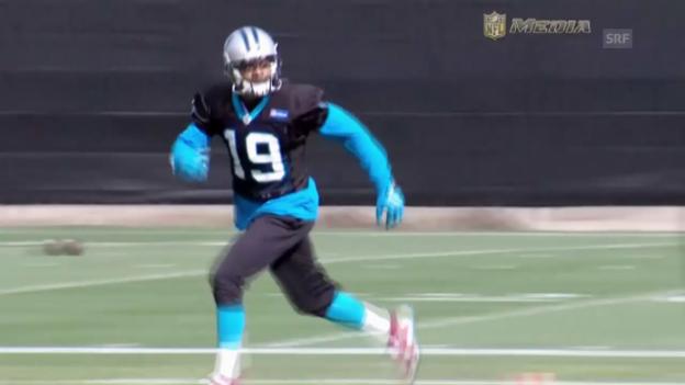 Video «Super Bowl: Quarterback Cam Newton will herausragende Saison krönen» abspielen