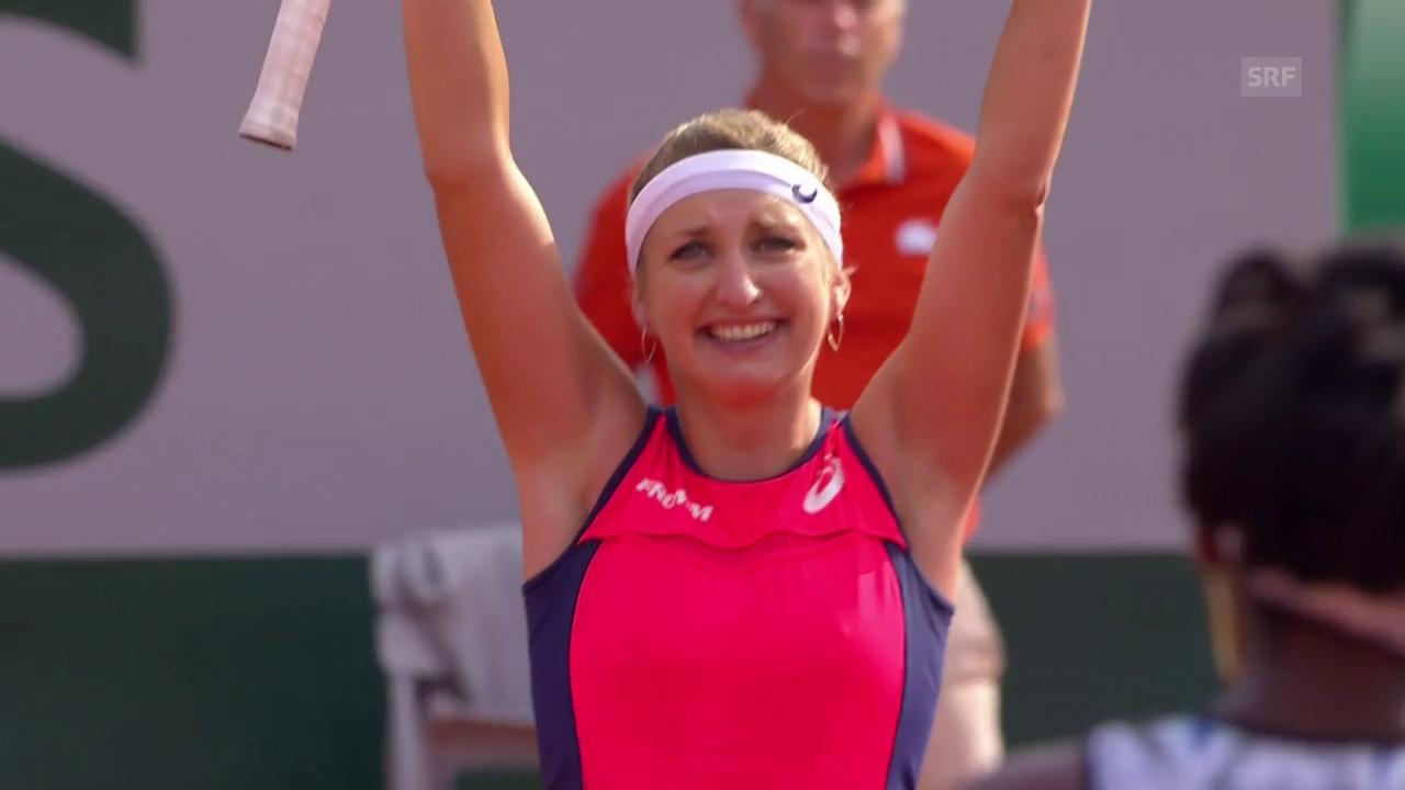Entscheidende Punkte bei Bacsinszky - Venus Williams