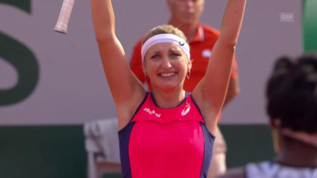 Video «Entscheidende Punkte bei Bacsinszky - Venus Williams» abspielen