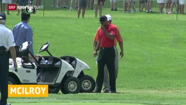 Video «Golf: McIllroy wieder Nummer 1 - Woods verletzt («sportaktuell»)» abspielen