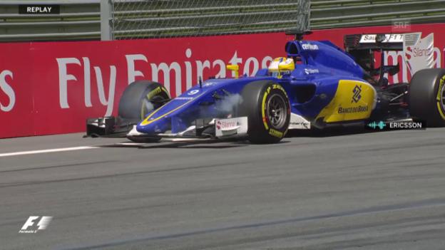 Video «Formel 1: GP Österreich, Stillstand Ericsson» abspielen