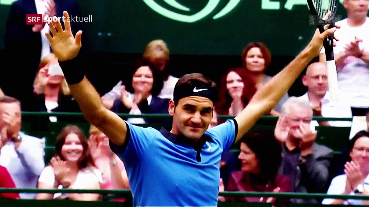 Federer stürmt in Halle zum Titel