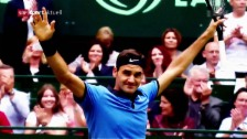 Video «Federer stürmt in Halle zum Titel» abspielen