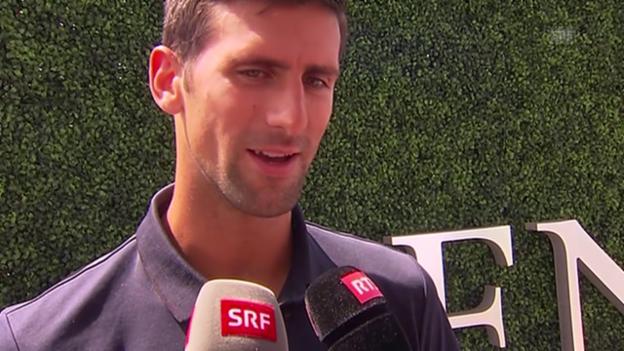 Video «Tennis: US Open, Djokovic über die Schweizer» abspielen
