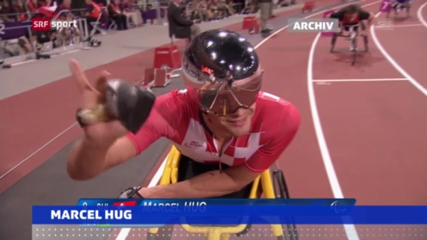 Video «Behinderten-WM: Marcel Hug holt Gold («sportaktuell»)» abspielen