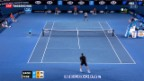 Video «Federer an den Australian-Open in den Viertelfinals» abspielen