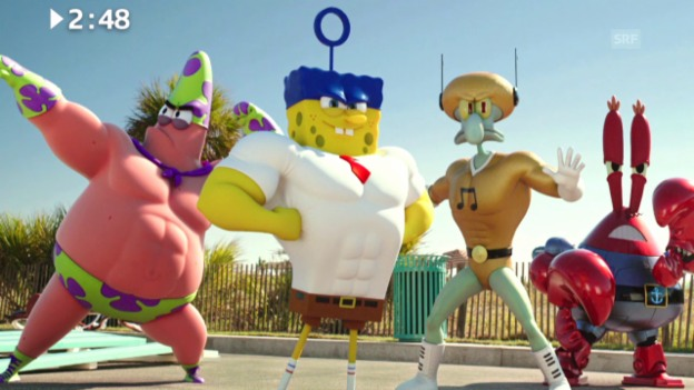 Video «Keine 3 Minuten: «The SpongeBob Movie»» abspielen
