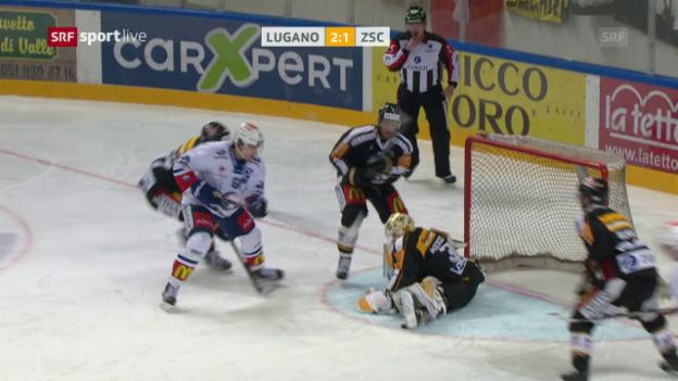 Video «Merzlikins rettete schon mehrmals für Lugano» abspielen