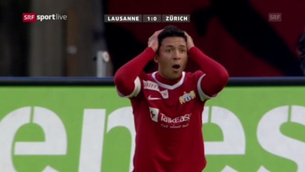 Video «Fussball: Super League, 30. Runde, Lausanne-Zürich» abspielen