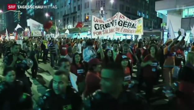 Video «Proteste trüben WM-Vorfreude» abspielen