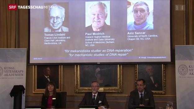 Video «Nobelpreis Chemie» abspielen