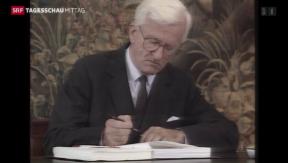 Video «Deutschland trauert um ehemaligen Bundespräsidenten» abspielen