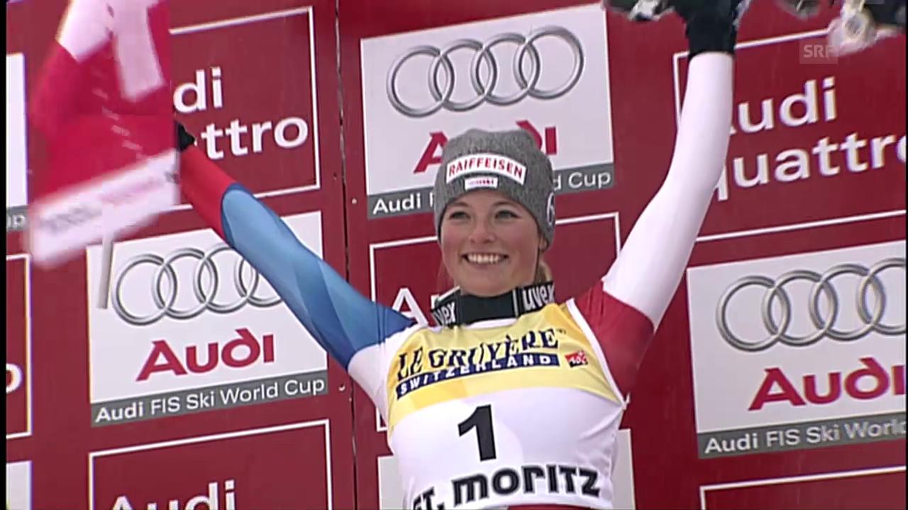 St. Moritz 2008: Gut feiert ihren 1. Weltcup-Sieg