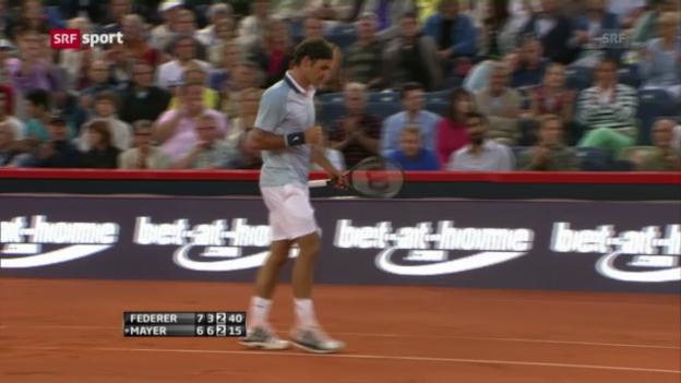 Video «Tennis: Federer- Mayer in Hamburg» abspielen