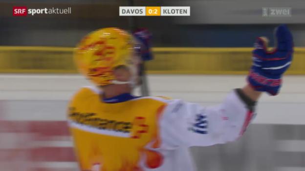 Video «Eishockey: Playoff-Viertelfinal, Davos - Kloten» abspielen