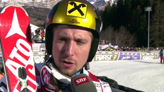 Video «Ski Alpin: Weltcup, Riesenslalom Alta Badia, Interview Hirscher» abspielen