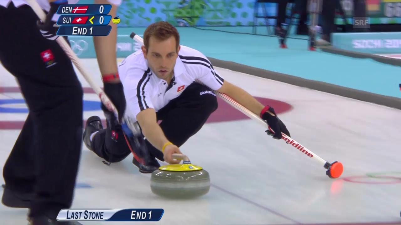 Curling: Zusammenfassung Schweiz - Dänemark (15.02.2014)