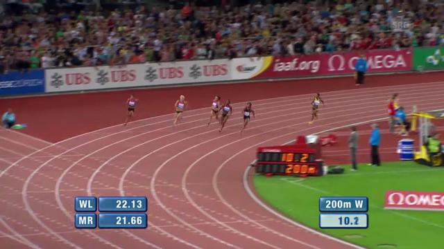 Das 200-m-Rennen der Frauen («sportlive»)